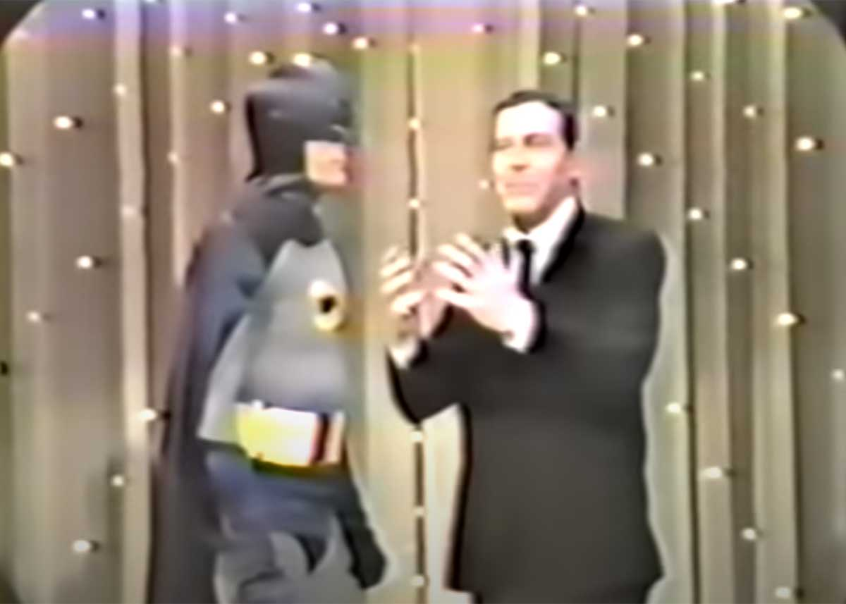 Adam West Appears on Hollywood Palace as Batman (with Milton Berle as Superman)