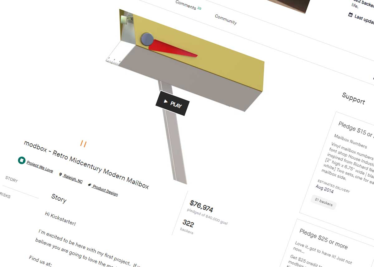 Support the Revival of the Retro Mid-century Modern Mailbox